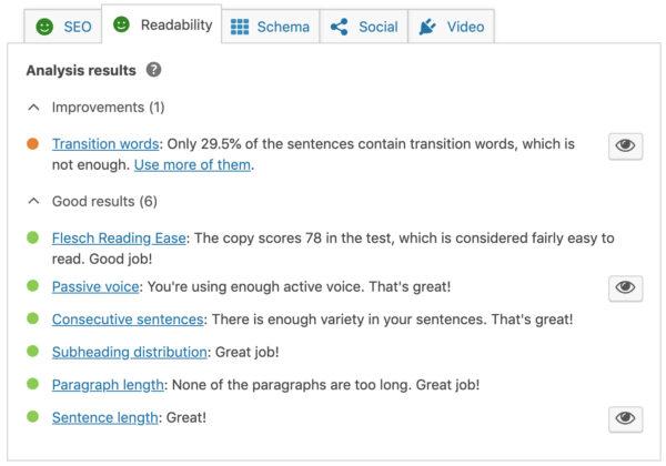 Yoast Readability Analysis - Digital Agency Toronto tips on effective communication in web design
