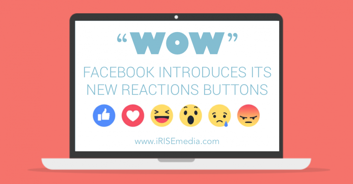 """""""Wow"""" Facebook Introduces Its New Reactions Buttons"""