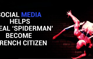 Social Media helps Spiderman
