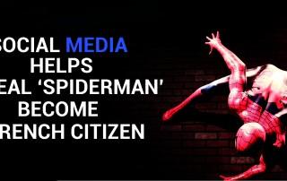 Social Media helps Spiderman