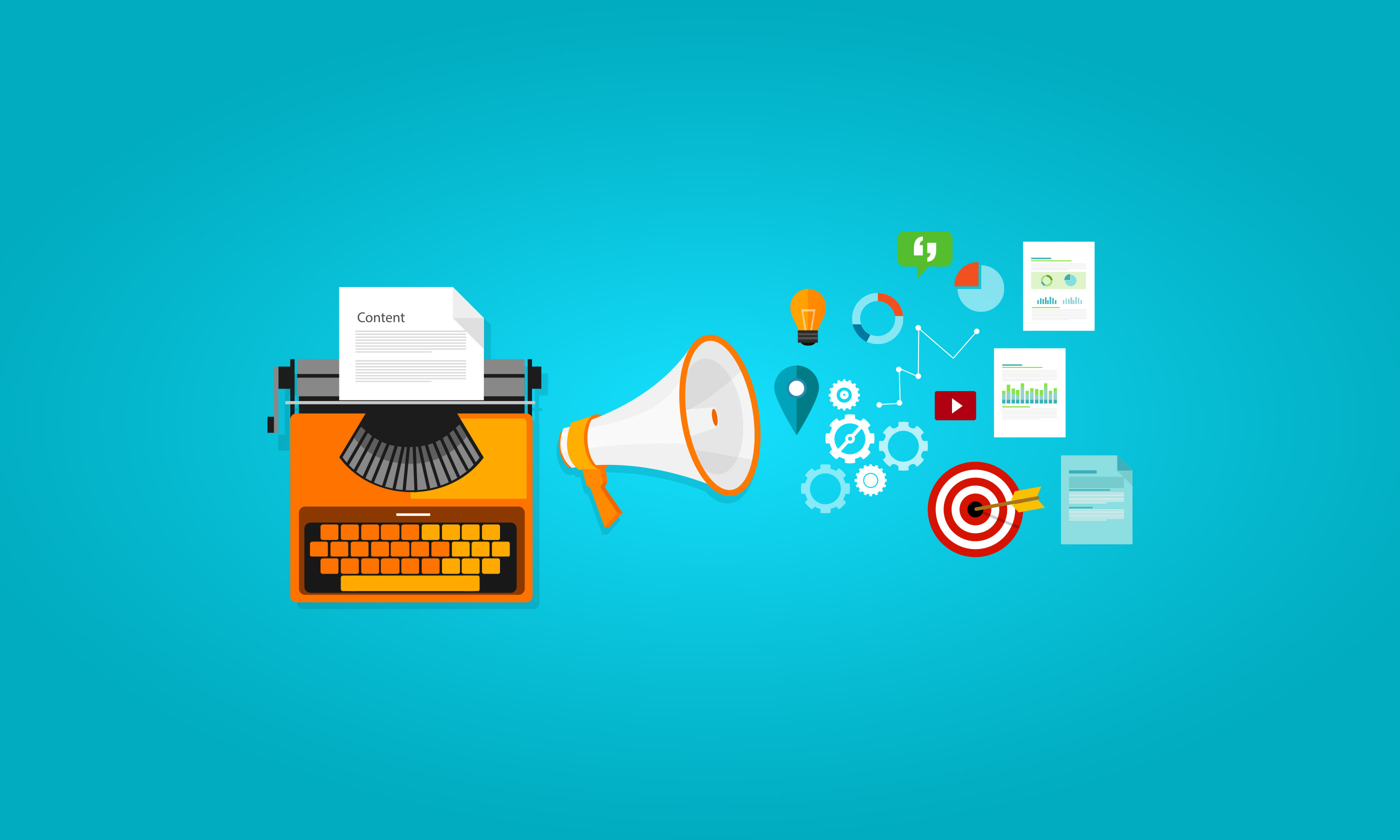 Content Marketing and Content Management Slider