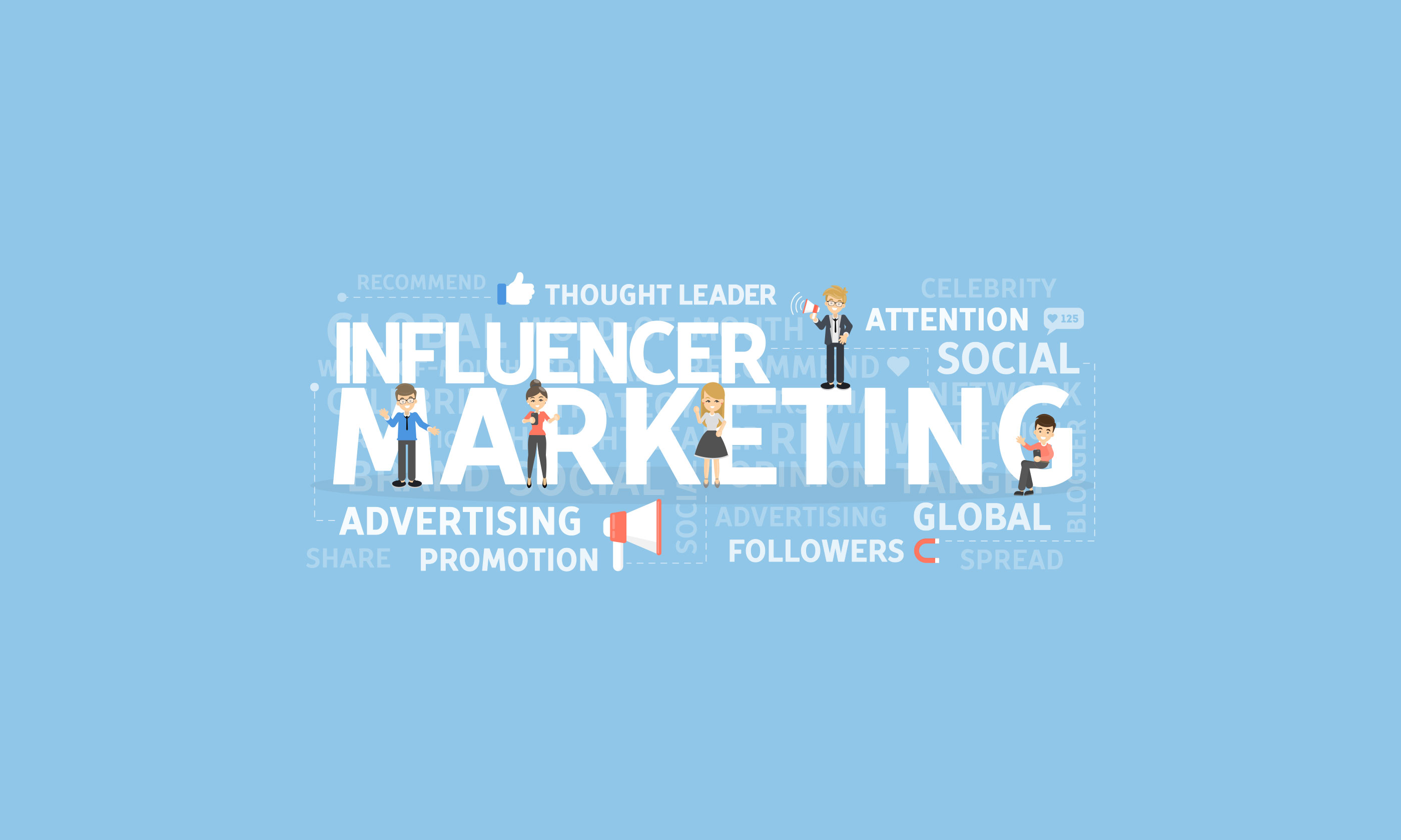 Influencer Marketing Slider - Advertising, Promotion, Social, Share