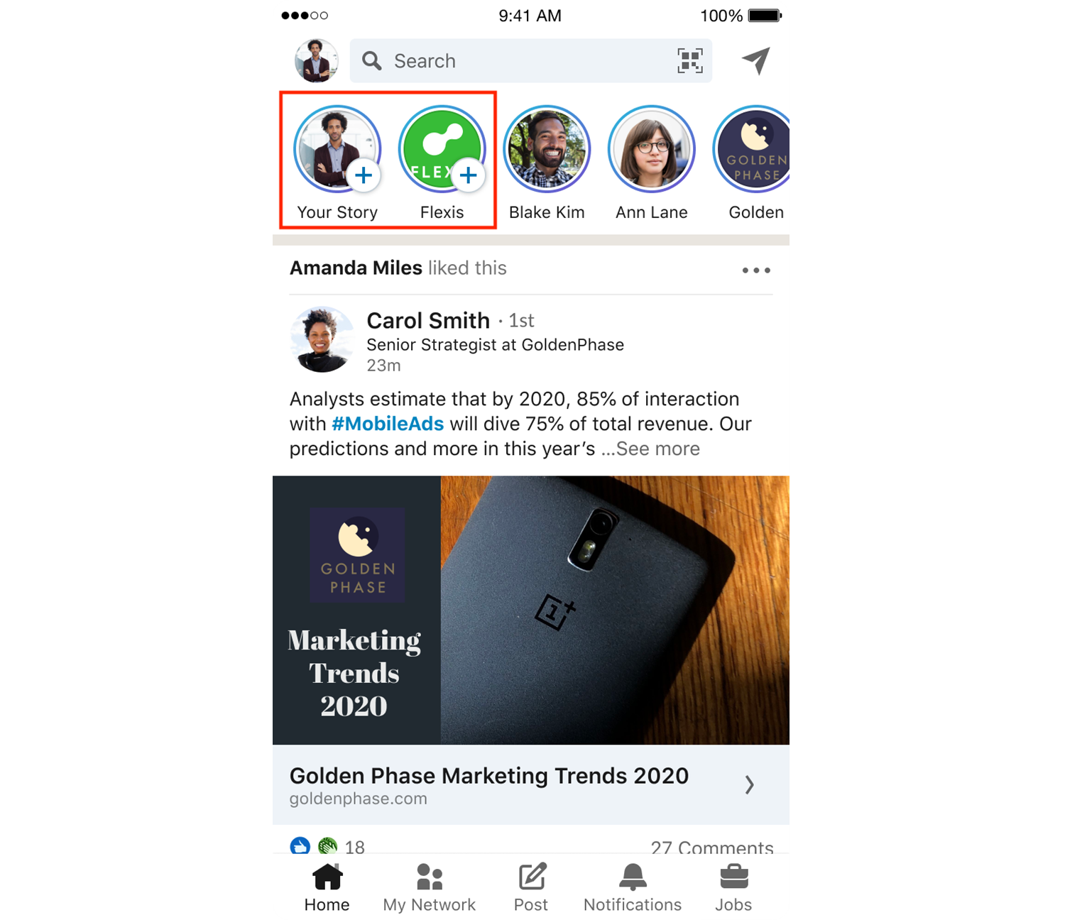 LinkedIn Stories - Digital Marketing Toronto - DMAC