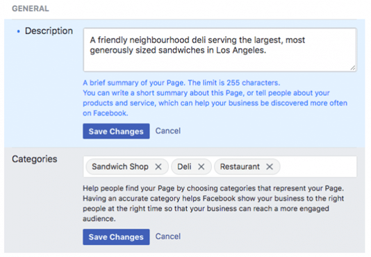 How to create a Facebook Business Page - Add Business Details