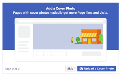 How to create a Facebook Business Page - Add photos